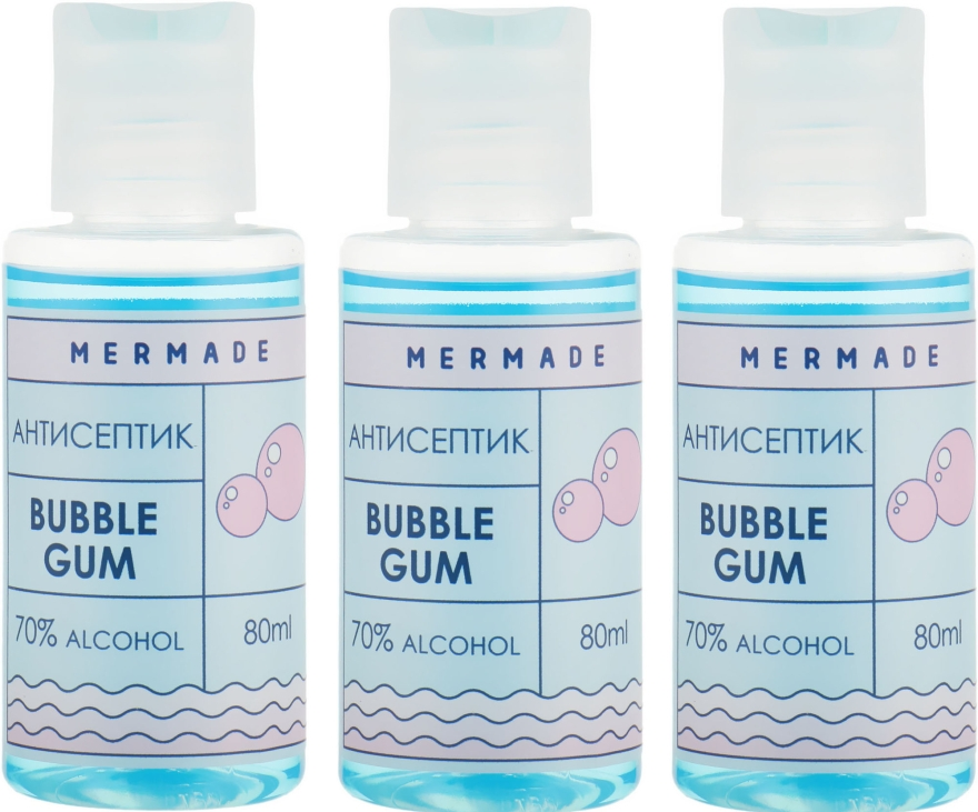 Набор - Mermade Bubble Gum (hand/gel/3x80ml)