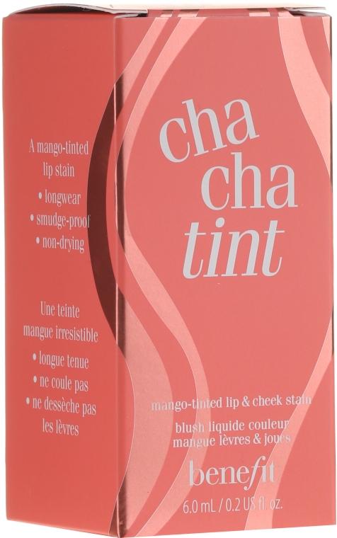 Жидкий пигмент для губ и щечек - Benefit Cha Cha Tint (мини)