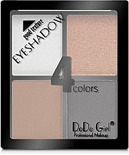 Палетка теней для век - DoDo Girl 4 Colors Eyeshadow — фото N2