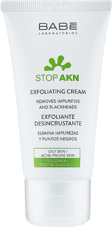 Очищающий крем-скраб для жирной и проблемной кожи - Babe Laboratorios Exfoliating Cream