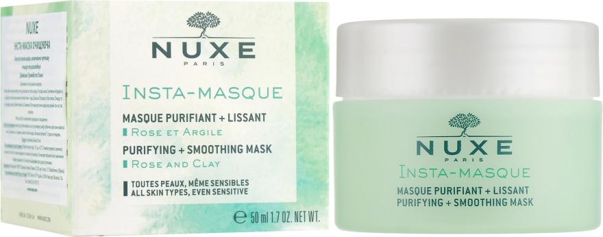 Очищающая и разглаживающая маска для лица с глиной - Nuxe Insta-Masque Purifying + Smoothing Mask