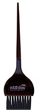 Кисточка для окрашивания с резиновой вставкой, черная - Baihe Hair — фото N1