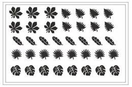 Духи, Парфюмерия, косметика Трафарет для ногтей D-13 - Adore Professional Deep Design D-13