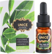 Духи, Парфюмерия, косметика Сыворотка с маслом чайного дерева - Unice SOS Serum Tea Tree Oil