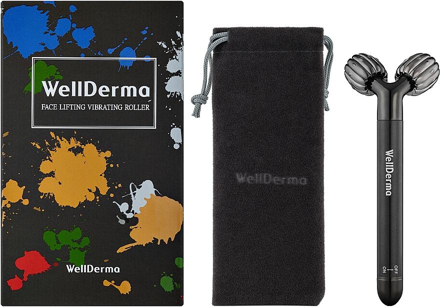 Роликовый вибрирующий массажер - Wellderma Face Lifting Vibrating Roller