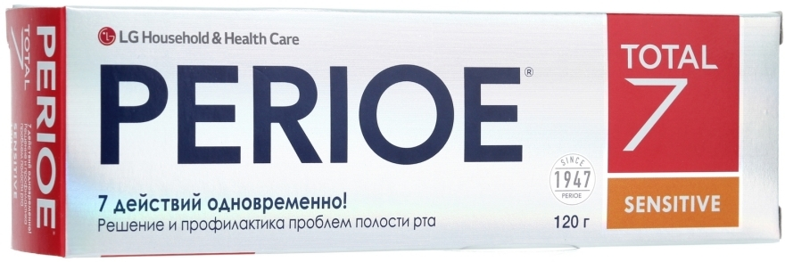 "Зубная паста ""Total 7 Sensitive"" - LG Household & Health Perioe Total 7 Sensitive"