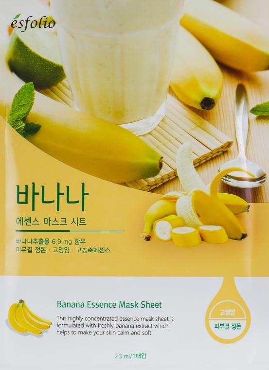 Тканевая банановая маска - Esfolio Essence Mask Sheet