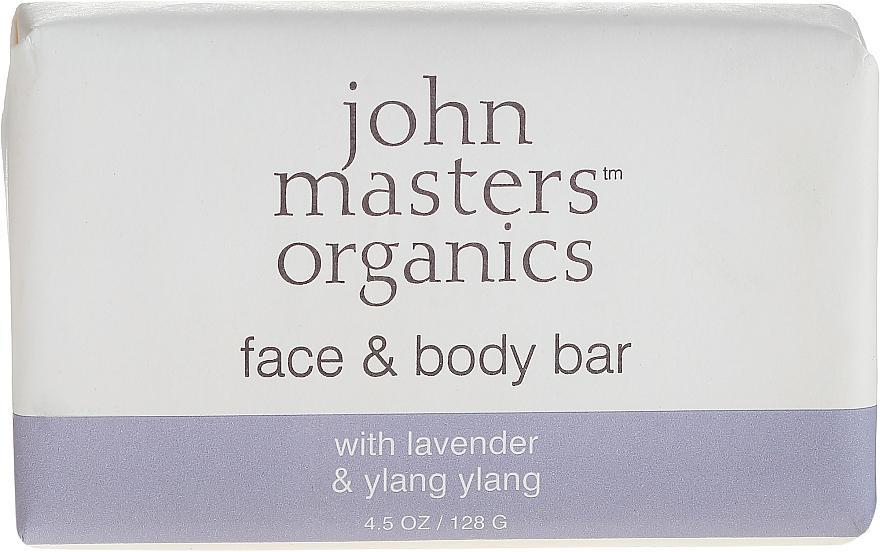 Мыло для лица и тела - John Masters Organics Lavender Rose Geranium & Ylang Ylang Face & Body Bar