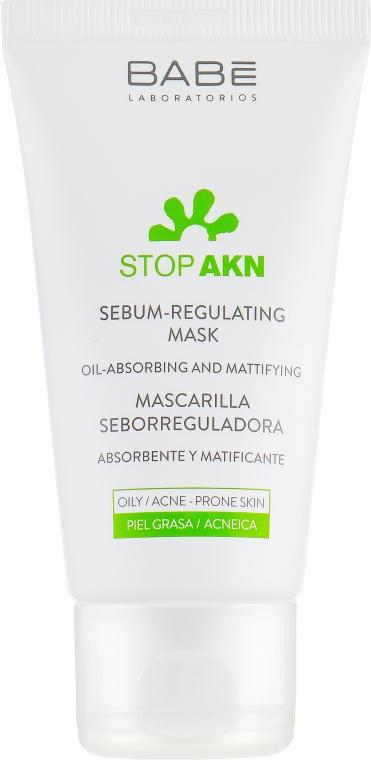 Себорегулирующая маска с белой глиной для жирной и проблемной кожи - Babe Laboratorios Stop Akn — фото N2