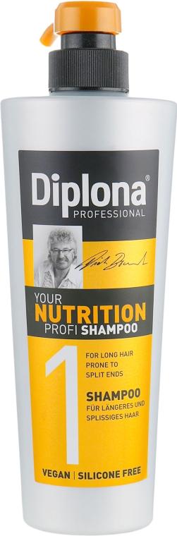 """Шампунь для длинных волос с секущимися кончиками """"Питательный"""" - Diplona Professional Nutrition"""