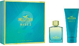 Духи, Парфюмерия, косметика Hollister Wave 2 For Him - Набор (edt/100ml + sh/gel/200ml)