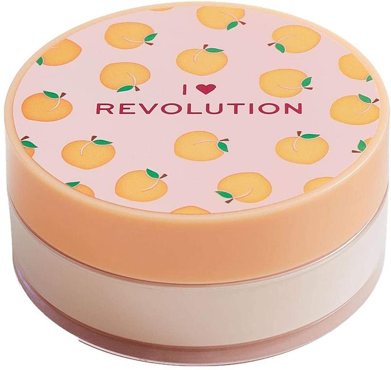 Рассыпчатая пудра для лица персиковая - I Heart Revolution Loose Baking Powder Peach