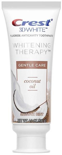 Отбеливающая зубная паста - Crest 3D White Whitening Therapy Gentle Care Coconut Oil Toothpaste