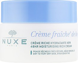Зволожуючий і насичений крем для сухої і дуже сухої шкіри - Nuxe Creme Fraiche De Beaute Enrichie 24hr Soothing and Moisturizing Rich Cream — фото N2