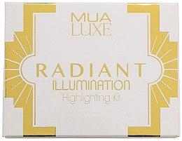 Духи, Парфюмерия, косметика Палетка хайлайтеров - MUA Luxe Radiant Illumination Highlighting Kit