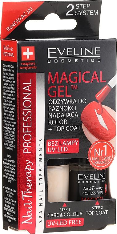 """2-фазная система """"Стойкий профессиональный маникюр"""" - Eveline Cosmetics Natural Light Magical Gel Technology"""