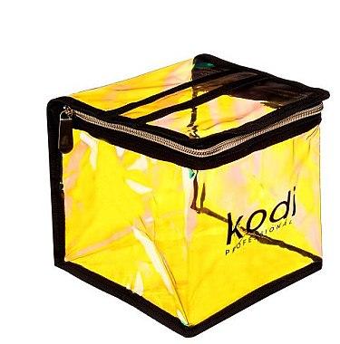 "Косметичка ""Хамелеон"" №003, квадратная с ручкой, желтая - Kodi Professional"