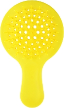 Духи, Парфюмерия, косметика Расческа для волос, жёлтая - Janeke Superbrush Mini Silicon Line