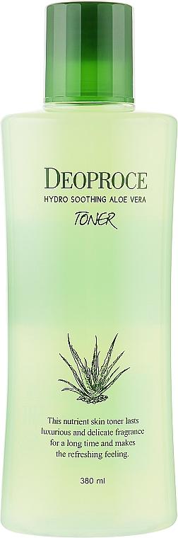 Увлажняющий тонер с алоэ вера, гиалуроновой кислотой и растительными экстрактами - Deoproce Hydro Soothing Aloe Vera Toner