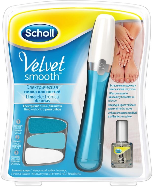 Электрическая пилка для ногтей - Scholl Velvet Smooth Nail Care System