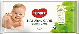 Духи, Парфюмерия, косметика Детские влажные салфетки Natural Care Extra Care, 56 шт - Huggies