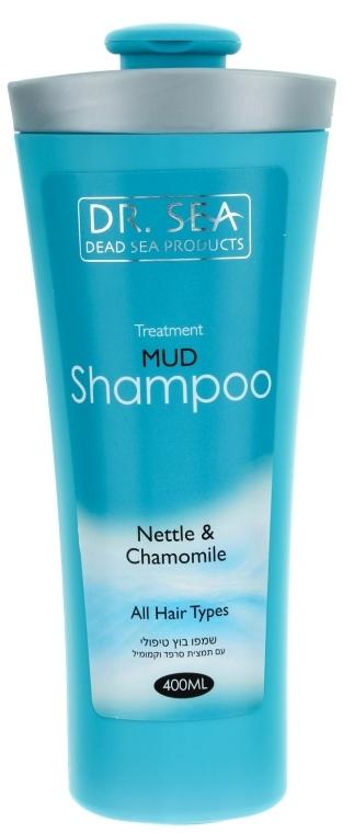Оздоравливающий грязевой шампунь с экстрактами крапивы и ромашки - Dr. Sea Treatment Mud Shampoo