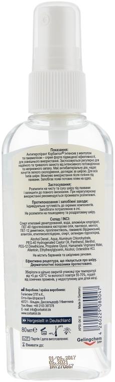 Антиперспірант з ментолом і гамамелісом  - Gelingchem Corbaktol Intensiv Deo-Spray Forte — фото N2