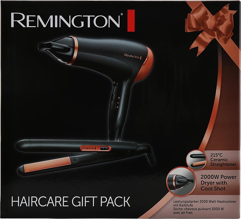 Набор (фен + выпрямитель) - Remington D3012GP Haircare Giftpack
