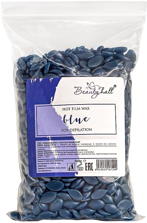 """Воск для депиляции пленочный в гранулах """"Голубой"""" - Beautyhall Hot Film Wax Blue"""