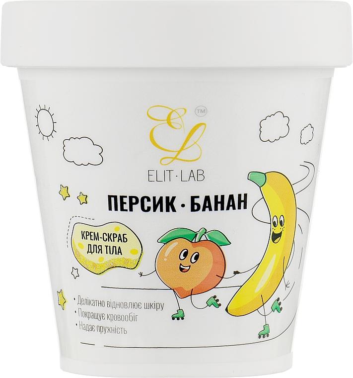 """Крем-скраб для тела """"Персик-Банан"""" - Elit-Lab"""