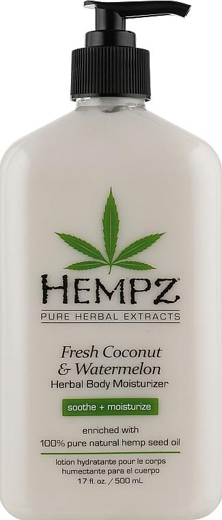Растительный освежающий лосьон для тела «Кокос и Арбуз» - Hempz Fresh Coconut & Watermelon Herbal Body Moisturizer