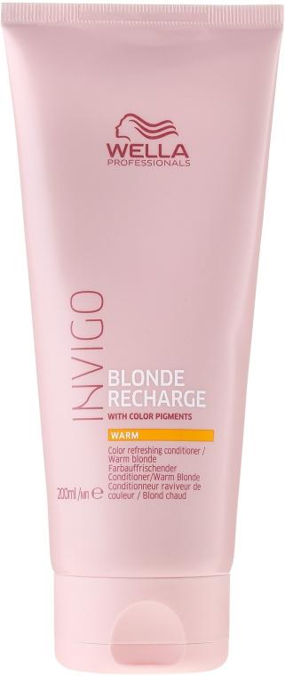 Оттеночный бальзам-уход теплых светлых оттенков - Wella Professionals Invigo Blonde Recharge Conditioner For Warm Blonde