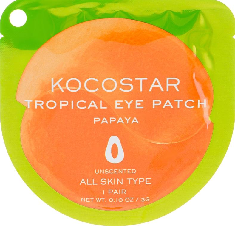 """Гидрогелевые патчи для глаз """"Тропические фрукты. Папайя"""" - Kocostar Tropical Eye Patch Papaya"""