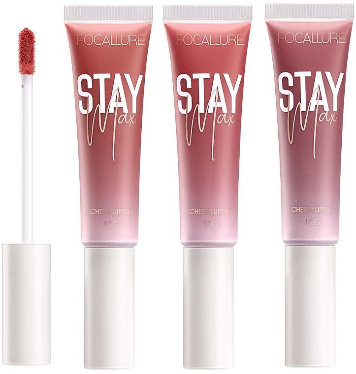 Тинт для губ и щек - Focallure Staymax Lip & Cheek Tint Lip Care