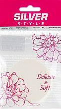 Духи, Парфюмерия, косметика Спонж для макияжа прорезиненный, SP-107, круглый, белый - Silver Style