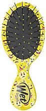Духи, Парфюмерия, косметика Расческа компактная с узором, желтая - Wet Brush Squirt Happy Hair