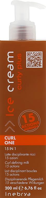 Молочко 15в1 для укладки кудрявых волос - Inebrya Ice Cream Curly Plus Curl One 15in1