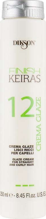 Крем-глазурь для гладких/кудрявых волос - Dikson Finish Keiras Crema Glaze 12