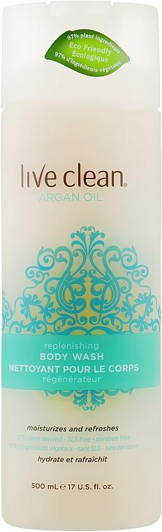 "Гель для душа ""Обновляющий"" - Live Clean Exotic Nectar Argan Oil Replenishing Body Wash"