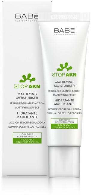 Матирующий увлажняющий крем для жирной и проблемной кожи - Babe Laboratorios Stop Akn Skin Hidratante Moisturiser