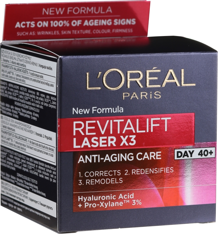 Дневной крем - L'Oreal Paris Revitalift Laser Х3 Anti-Age Day Cream