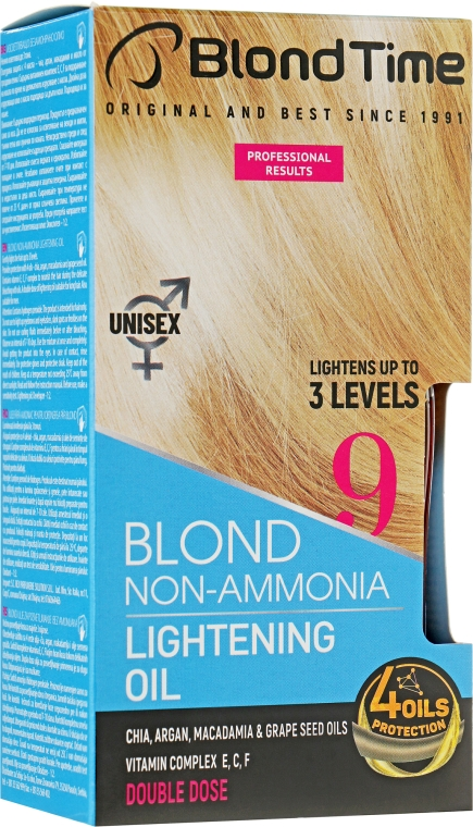 Осветляющее масло без аммиака - Blond Time Super Blond Non-Ammonia Lightening Oil