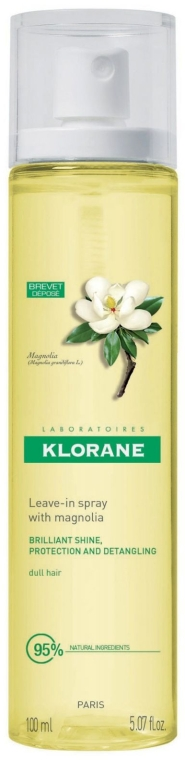 Спрей с воском Магнолии для блеска волос - Klorane Leave-In Spray with Magnolia