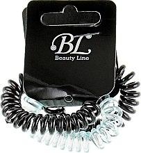 Духи, Парфюмерия, косметика Набор резинок для волос, 405004, прозрачно-голубая+черная+черная - Beauty Line