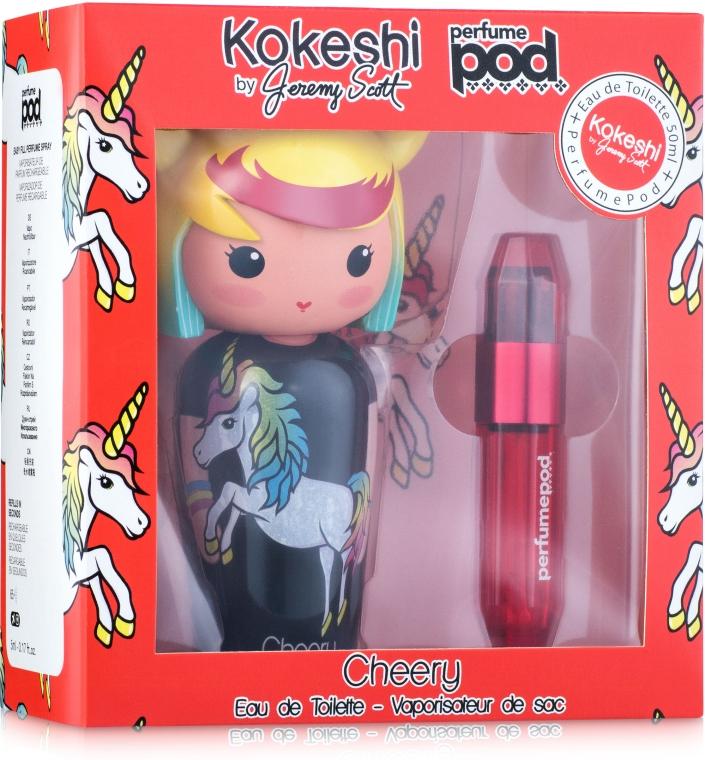 Kokeshi Parfums Cheery by Jeremy Scott - Набор (edt/50ml+parfumepod/1x5ml)