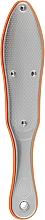 Духи, Парфюмерия, косметика Лазерная терка для ног двухсторонняя FL-05, металлическая полностью с прорезиненными вставками, оранжевая - Beauty LUXURY