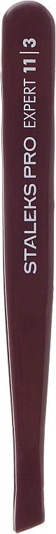Пинцет для бровей, TE-11/3, фиолетовый - Staleks Pro Expert 11 Type 3 Violet