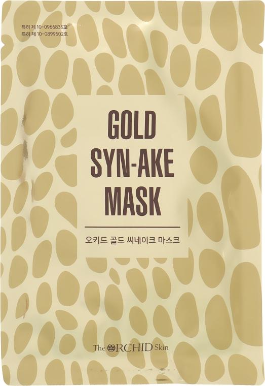 Тканевая маска для лица с пептидом змеиного яда - The Orchid Skin Orchid Gold Syn-Ake Mask