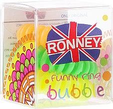 Духи, Парфюмерия, косметика Резинки для волос, 3,5 см - Ronney Professional S2 MET Funny Ring Bubble