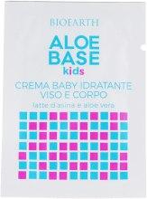 Духи, Парфюмерия, косметика Детский увлажняющий крем для лица и тела - Bioearth Aloebase Kids Moisturizing Baby Cream (пробник)